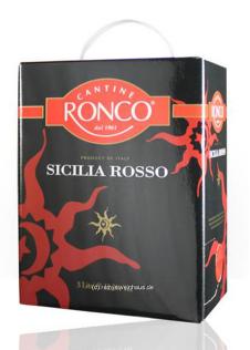 Rượu vang bịch Ronco Sicilia Rosso